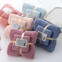 6 colors soft practical plain bath towel bath towel set absorbent coral fleece towel coral fleece bath towel household items
