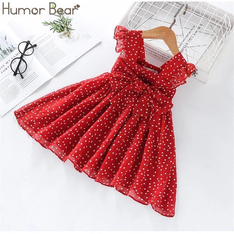 aliexpress.com - Humor Bear Girls Dress SummerBrand New Dress For Girls Sleeveless Chiffon Polka Dot Dress Princess Dress Girl Toddler Dress