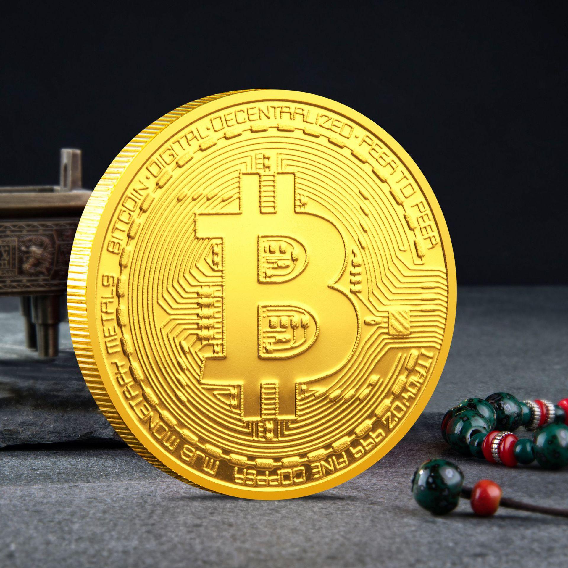 Bitcoin Souvenir Coin Gold Plated Commemorative Coin Collectible Gift Faith In Bitcoin Physical Collection Art 1PCS Bitcoin