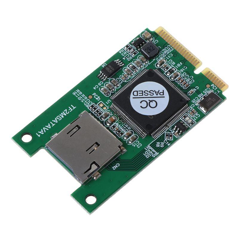1 шт. Micro SD TF карта для мини PCI-E mSATA SSD твердотельный накопитель адаптер конвертер для ПК компьютер ноутбук аксессуары