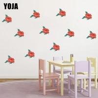 YOJA     autocollant mural Roses romantiques  7x6 2CM  18 pieces  accessoires de decoration de chambre a coucher  a la mode  pour la maison  8WS0015