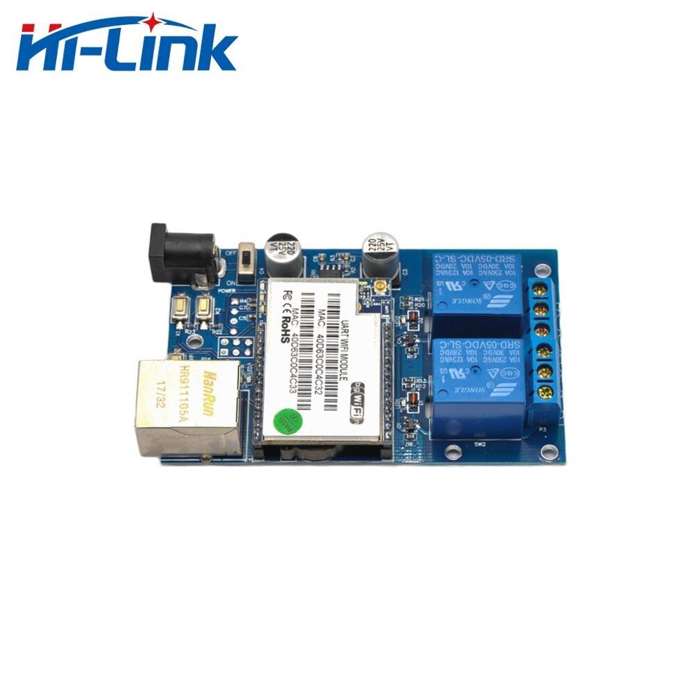 2 канала Wi-Fi сетевой релейный контроллер выход вход умный дом WiFi контроль Swtich HLK-SW02