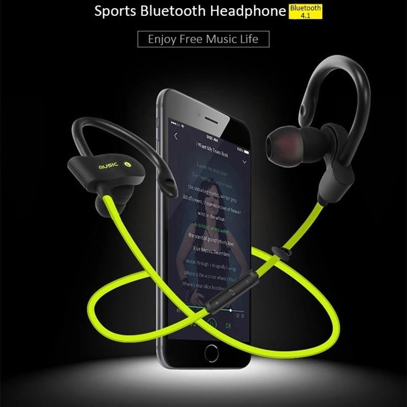 Aoogoor 56S-auriculares, inalámbricos por Bluetooth, Mini auriculares estéreo deportivos anticaídas a prueba de sudor