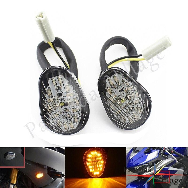 Personalizado para Yamaha YZF R1 YZF R6 YZF R6S, indicador LED frontal lateral de la motocicleta, luz de giro, luz ámbar, intermitentes