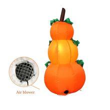 4 Foot Halloween Inflatable 3 pumpkin Lanterns Yard Art Decoration(EU) 72XC