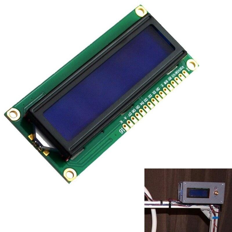 Nuevo módulo de pantalla LCD DC 5V HD44780 1602 16x2 carácter LCM luz de fondo azul
