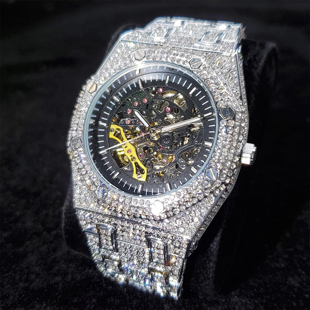 ساعات رجالي أوتوماتيكية ميكانيكية من أفضل ماركات الهيب هوب ساعة رجالي فاخرة من ماركة AP Royal Oak غواص AAA ساعة رجالية
