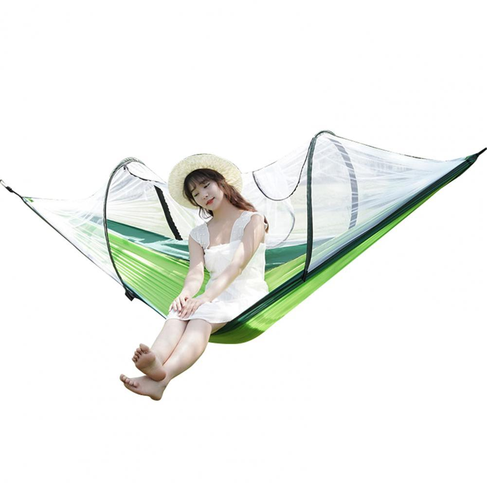 Practical Convenient Hammock Quick-drying  High Strength Mosquito Net Patchwork Polyester Lightweight Camping Hanging Bed for Tr