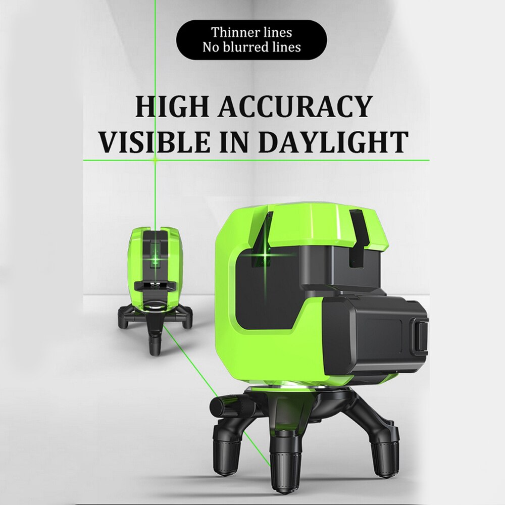 Linhas de Nível do Laser Cruz-line com Base Auto Nivelamento Graus Verde Vermelho Feixe Laser Horizontal & Vertical Magnética 5 360