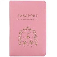 Однотонная Обложка для паспорта из ПВХ для женщин и мужчин, держатель для карт, многофункциональная милая сумка для банковских карт, чехол-к...