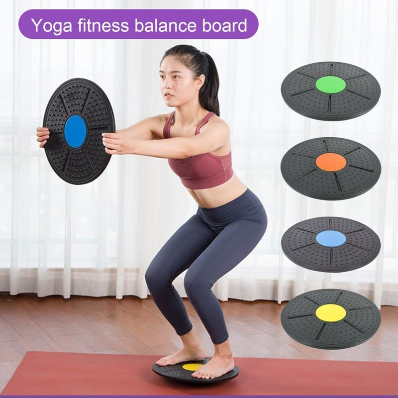 Wobble Board Round Balance Board Home Gyms Exercise Fitness Sports Waist Wriggling Fitness Balance Board Fitness Equipment 37cm universal healthy wobble balance board stability disc yoga sport training fitness exercise waist wriggling round plate game