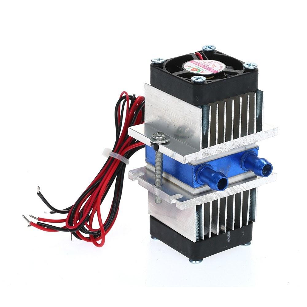 12V TEC الإلكترونية أشباه الموصلات الحرارية المبردة بلتيير التبريد TEC1-12706 برودة + المياه نظام التبريد