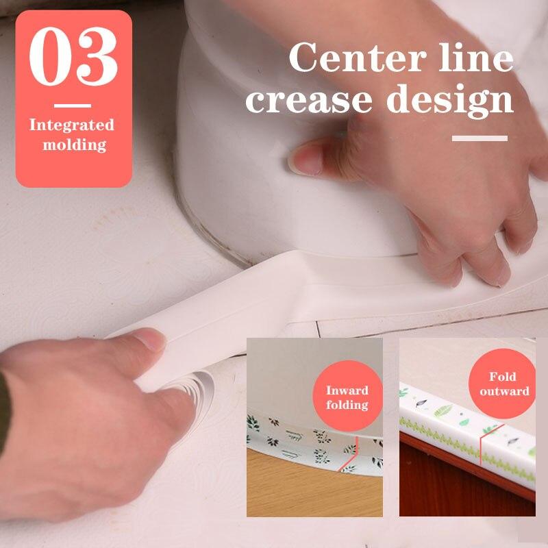 Bande adhésive de scellage en PVC blanc, 3.2m x 38mm, autocollant mural auto-adhésif pour salle de bain, douche, évier, cuisine, h031