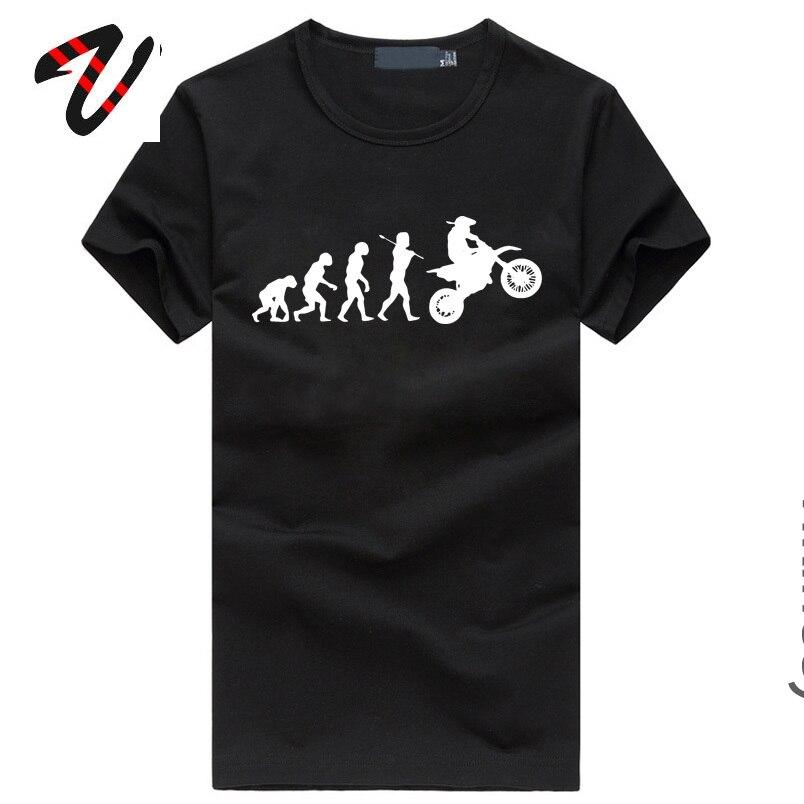 Evolution motocicleta Motocross descuento de velocidad de marca camiseta 100% de algodón Casual negro Streetwear Mens ropa camisa