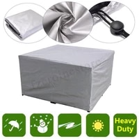 24 sizes of polyester furniture dust proof waterproof cover home garden rain snow table chair sofa machine protective covers