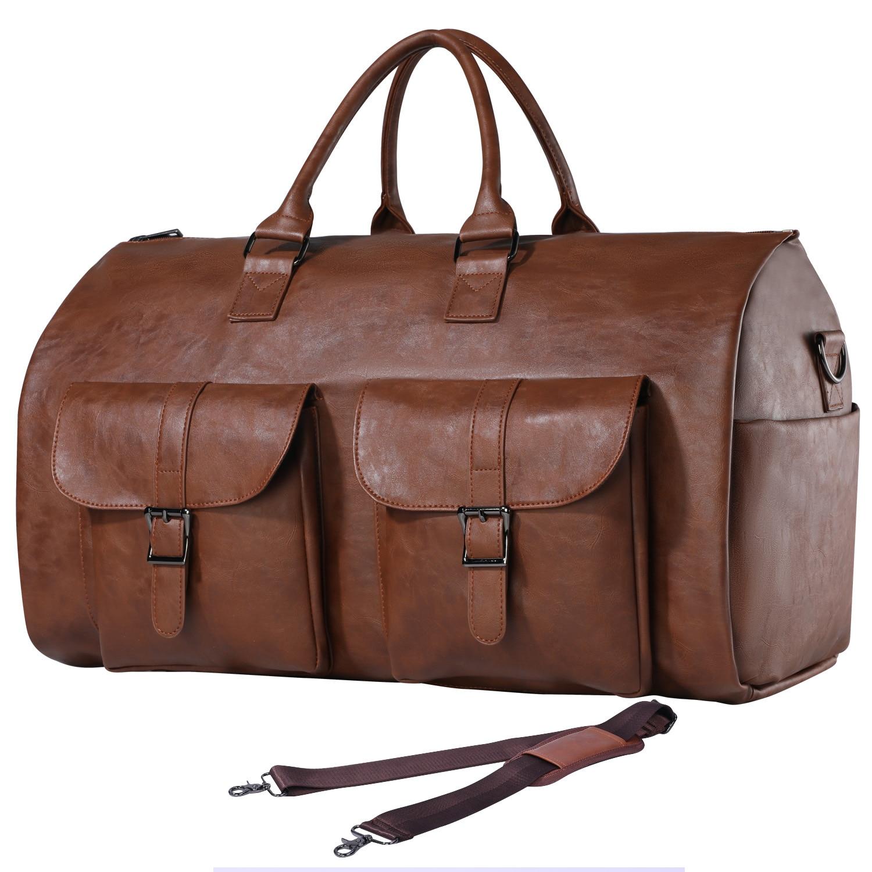 Сумка для одежды, водонепроницаемая мужская сумка для одежды для путешествий, большая кожаная спортивная сумка с отделением для обуви