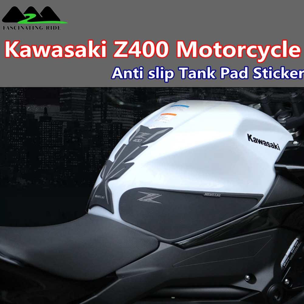 3D Protector de almohadilla de depósito para motocicleta calcomanías etiqueta para Kawasaki Z400 antideslizante tanque pegatinas