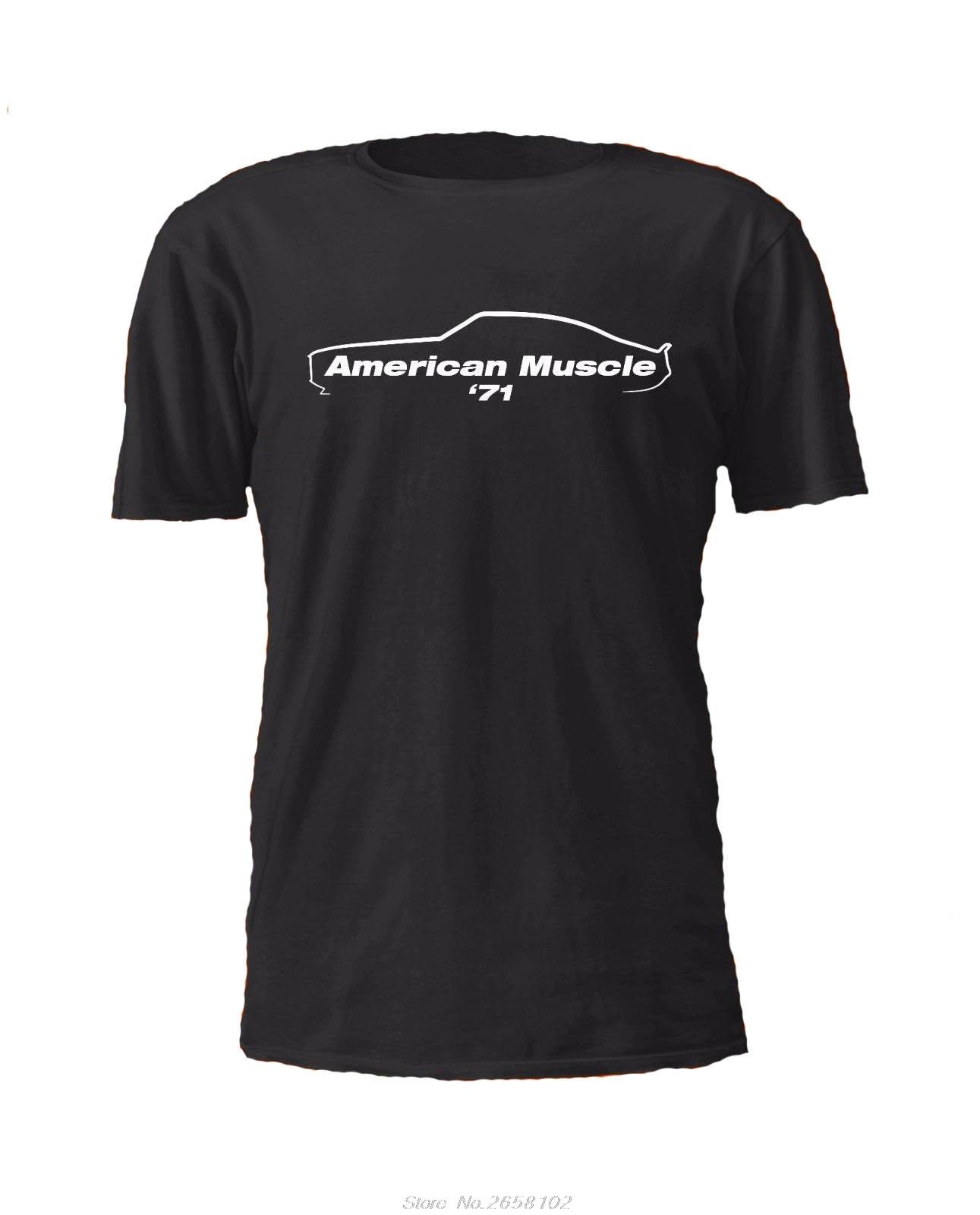 Летняя забавная Мужская футболка 1971 Gen 2 Camaro Американская с машинками Chevy petrohead