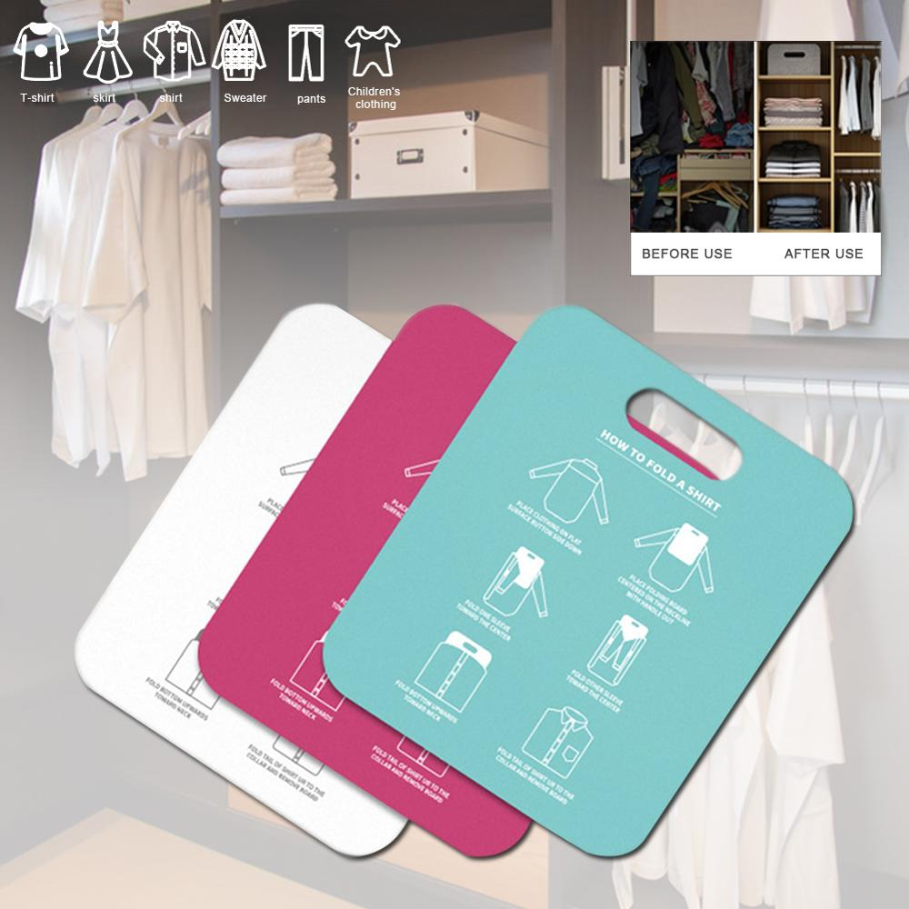 Household Cloth Folding Board Child/Adult Clothes Folder Closet Organizer Clothing Folders Board Organizer Laundry Storage clothes folding board fast cloth folder plastic t shirts jumper organizer save time quick convenient stacking laundry fold board