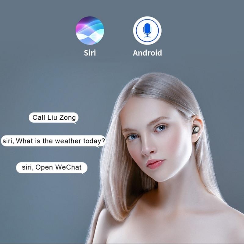 New TWS Sports In-ear Digital Display Bluetooth Headset HiFi Wireless Stereo Headset With 2000 MAh Charging Box Waterproof IPX7