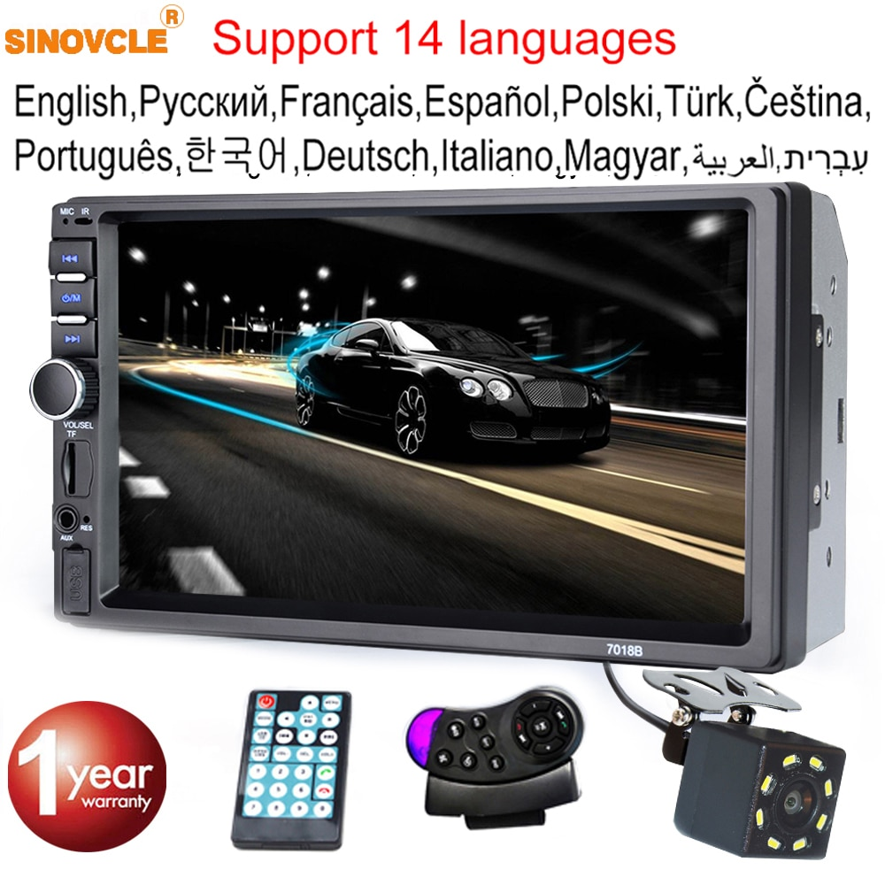 yetosu 1 din 7 universal car radio gps navigation bluetooth rear view camera auto radio video player mp5 stereo audio fm usb sd Sinvocle 2 Din Car Radio Bluetooth 7 Touch Screen Stereo FM Audio Stereo MP5 Player SD USB With / Without Camera 12V HD