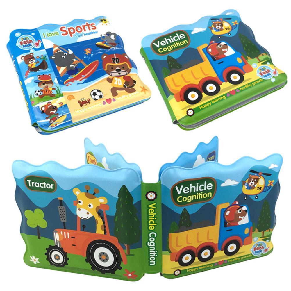 Juguetes educativos, libro de baño para bebé, dispositivo BB EVA impermeable con dibujos de animales