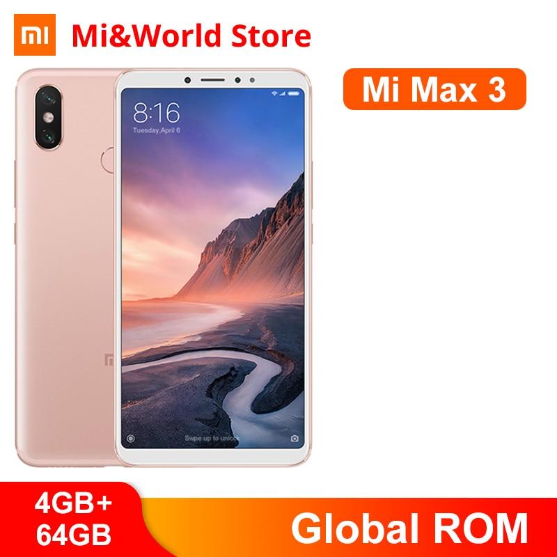 "Original mundial ROM Xiaomi Mi Max 3 4GB 64GB teléfono móvil Snapdragon 636 Octa Core 5500mAh 2160x1080x6,9 ""Pantalla 12MP + 5MP OTA"