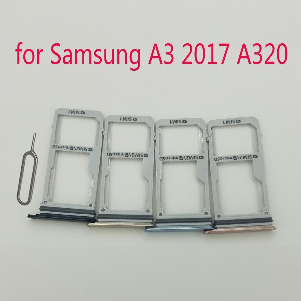 For Samsung Galaxy A3 2017 A320 A320F A320Y Original Phone Housing New SIM Tray Adapter Micro SD Car