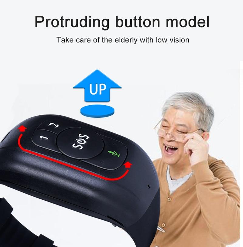 Auto-pick up Call Multi-terminal Monitor V48 4G HD Netcom GPS tracking Bracelet Talking Clock Waterproof Protruding Button Model enlarge