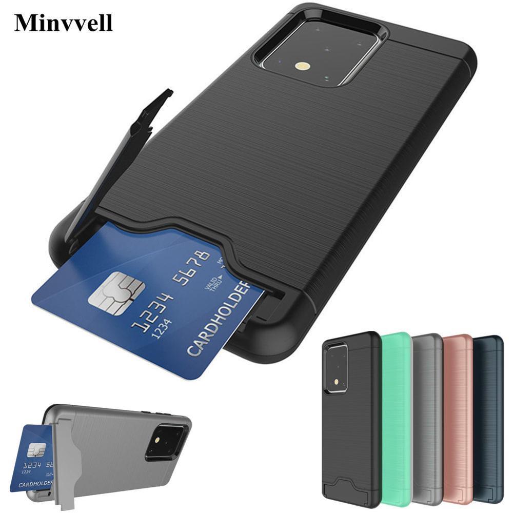Funda para Samsung Galaxy S20 Plus Ultra S20 +, funda de móvil con armadura cepillada para Samsung S20 Plus S20ultra, funda con ranura para tarjetas