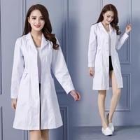 womens fashion lab coat short sleeve doctor nurse dress long sleeve medical uniforms white jacket with adjustable waist belt