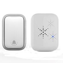 Wireless Doorbell No Battery Required  Waterproof Self-Powered Smart Door Bell Home Cordless Ring Do