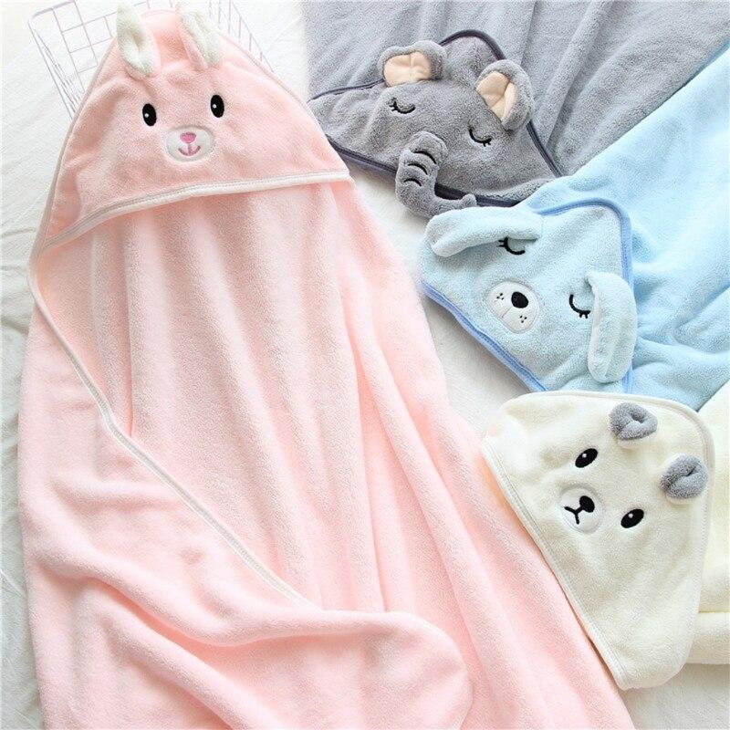 Baby Hug Blanket Spring Winter Autumn Newborn Air Conditioner Quilt Bath Towel Coral Fleece Hat Wrap Warm Birth Blanket Gift