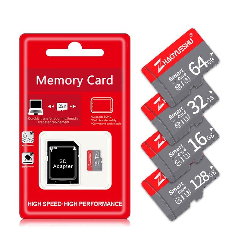 Tarjeta de memoria de alta velocidad, tarjeta Micro SD Class10 SDXC/SDHC Card de 128GB/64GB/32GB/16GB/8GB Micro sd