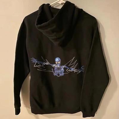 2020 Travis Scott mamá puedo volar Skelton Sudadera con capucha de los hombres y las mujeres Harajuku 3D de espuma que puedo volar Vetements Astrodome sudaderas con capucha