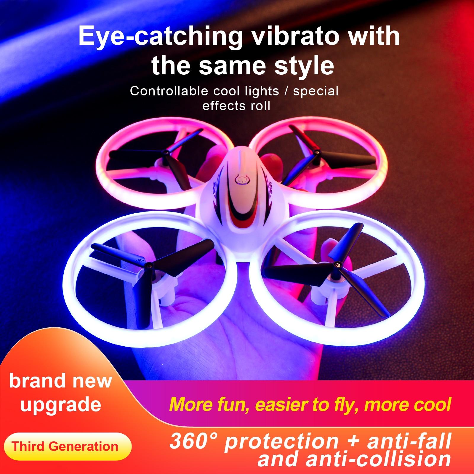 S123 Mini Drone Kid Light Aircraft Remote Control UFO Manual Induction Miniature Quadcopter Child El