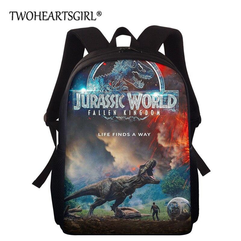 Twoheartsgirl-حقيبة ظهر للأطفال في مرحلة ما قبل المدرسة ، حقيبة ظهر مدرسية مع طبعة ديناصور للأطفال