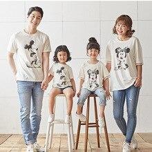 T-shirt Mickey pour famille   Pyjama dété pour père et fils, vêtements maman et moi, tenues pour maman et fils, 2019