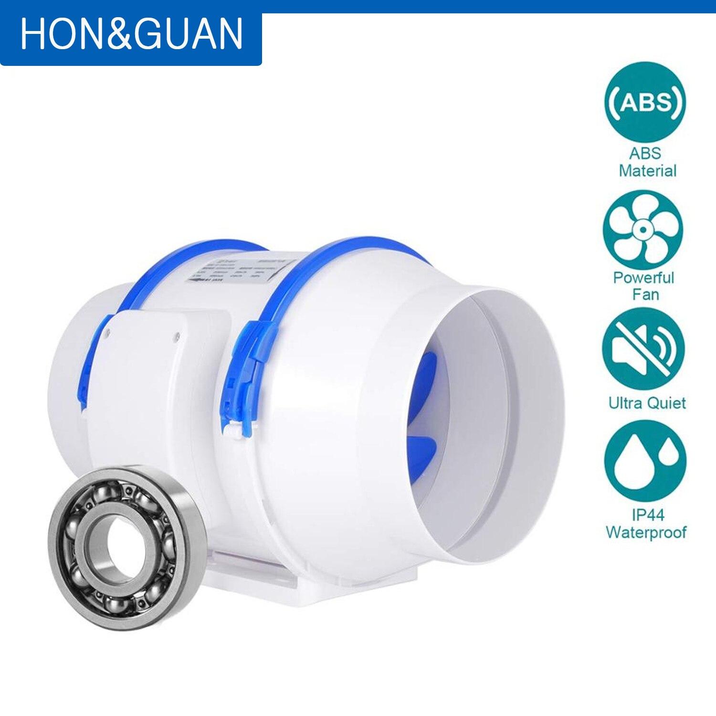 Hon & guan 110 v inline fãs, 6 fans extractor (ø150mm) inline ventilador extrator de duto max fluxo de ar 530m3/h para banheiro, estufas, hidroponia