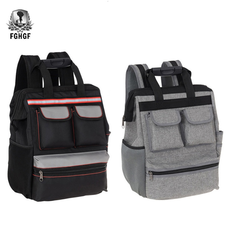 Tool Bag Shoulders Backpack Elevator Repair Belt Hardware Kit Organizer Oxford Cloth Canvas Travel Bags Electrician Work Bag