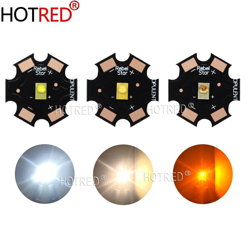 Светодиодный излучатель luceon Rebel ES, 10 шт., 3 Вт, высокая мощность, белый, теплый белый, желтый, 3,2-3,4 в, 700мА, 20 мм, PCB