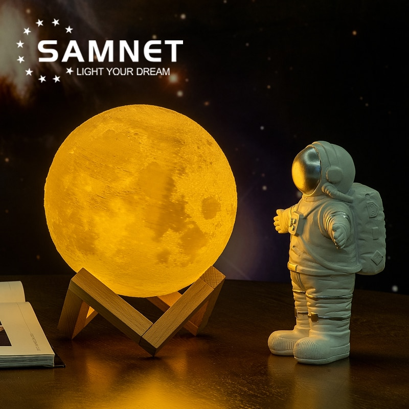 2021 Dropship 3D Print Moon Lamp LED Night Light Like Galaxy Lamp For Christmas Decoration As Childr