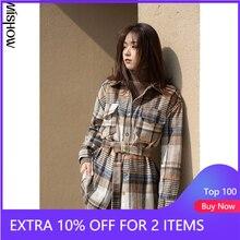 Mishow 2020 Winter Shirts Voor Vrouwen Hoge Kwaliteit Casual Kantoor Dame Plaid Tops Vintage Blouses Vrouwelijke Kleding MX20D4396