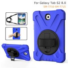 Pour Samsung Galaxy Tab S2 8.0 SM-T710 T713 T715 robuste armure main bandoulière étui enfants hybride antichoc support couverture