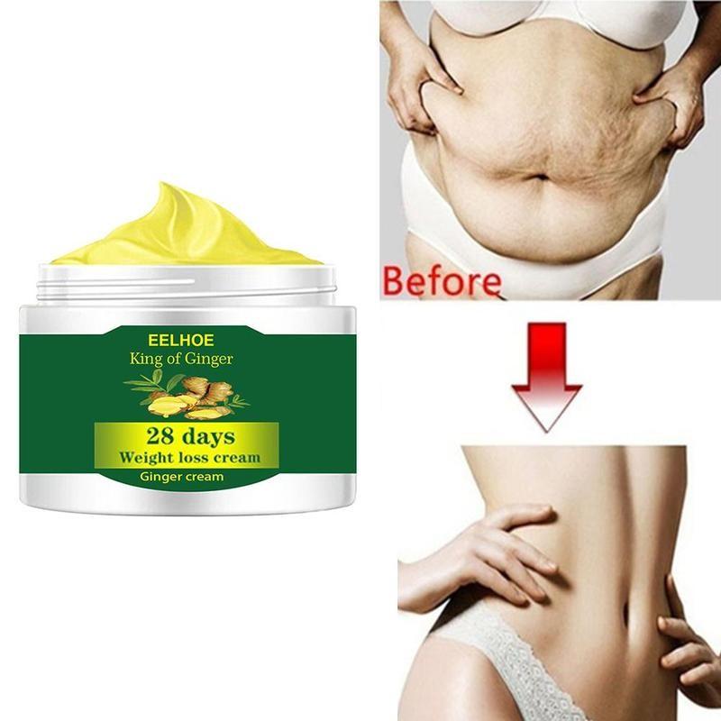 10/20/30/50g Ginger Slimming Cream Burning Cellulite Removal Weight Loss Full Body Slimming Massaging Cream Belly Fat Burning