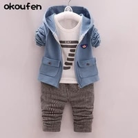 2019 new baby boy clothes suit boy coatsshirtpants 3 in 1 kids clothing sets spring and autumn child boy clothes body suit
