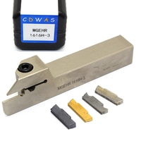 1PC MGEHR1616H 3 White Turning Tool Holder + 10PCS MGGN MGMN 300 PC9030 NC3020 H01 Carbide Inserts Grooving CNC Lathe Tools Set