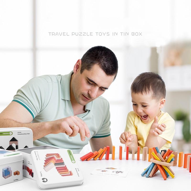 Bloques de construcción de inteligencia educativa de Aprendizaje Temprano de Madera Juguetes Para desensamblaje juego cognitivo interactivo juguetes de regalo para niños