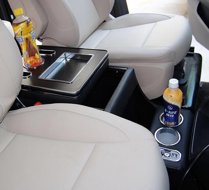 صندوق تخزين مسند الذراع مع USB ، إضاءة مزاجية ، صندوق متعدد الوظائف ، لمرسيدس بنز MPV class Vito/Viano