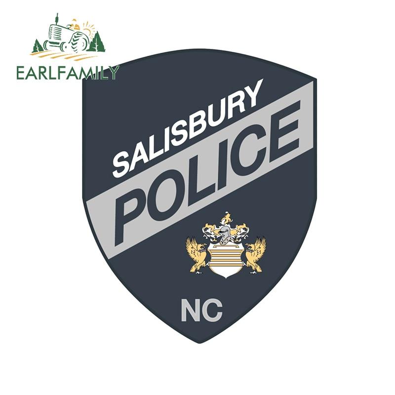 EARLFAMILY – autocollants fins pour voiture de Police, 13cm x 10.4cm, décalcomanies imperméables, dessin animé, Occlusion, adapté pour VAN RV JDM